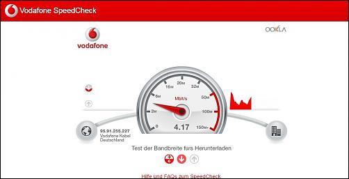 200MBit-Kabelanschluss schafft im Schnitt nur 16MBit - Vodafone Forum